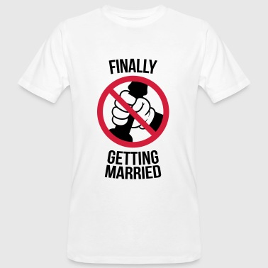 Finally getting married with cock, jerk, wank T-shirts - Mannen Bio-T-shirt
