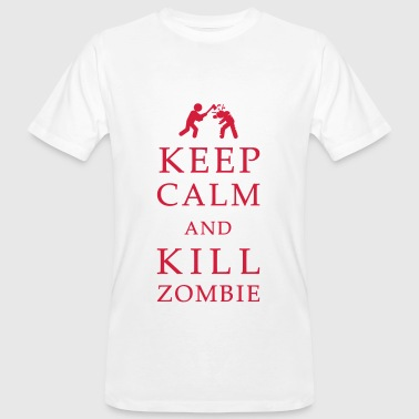 Keep calm and kill zombie - T-shirt bio Homme