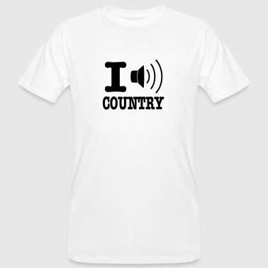 I music country / I love country - T-shirt ecologica da uomo