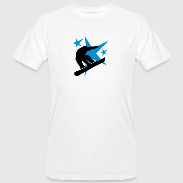 snowboarder jump with stars - T-shirt bio Homme