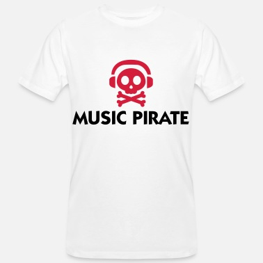Piraten Muziek Music Pirate - Mannen Bio-T-shirt