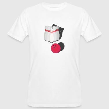 Bowling with bowling ball - Men's Organic T-Shirt