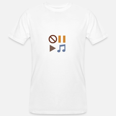 Sound Button Music Headset Sound Beats Play Button Rhythm - Men's Organic T-Shirt