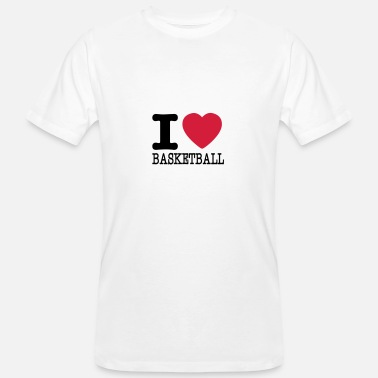 I Love Basketball I love basketball / I love basketball - Men's Organic T-Shirt