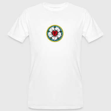 1517 Luther. Rose. Flower. Reformation. 500. 1517 - Men's Organic T-Shirt