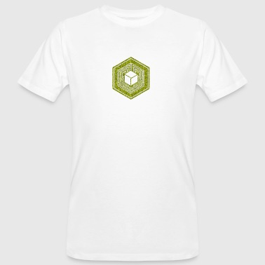 Crop Circle, TESSERACT, Hypercube 4D, 17th July 2010, Fosbury, Wiltshire, Symbol - Dimensional Shift - Camiseta ecológica hombre
