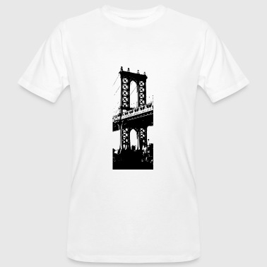 Manhattan Bridge in Brooklyn - Men's Organic T-Shirt