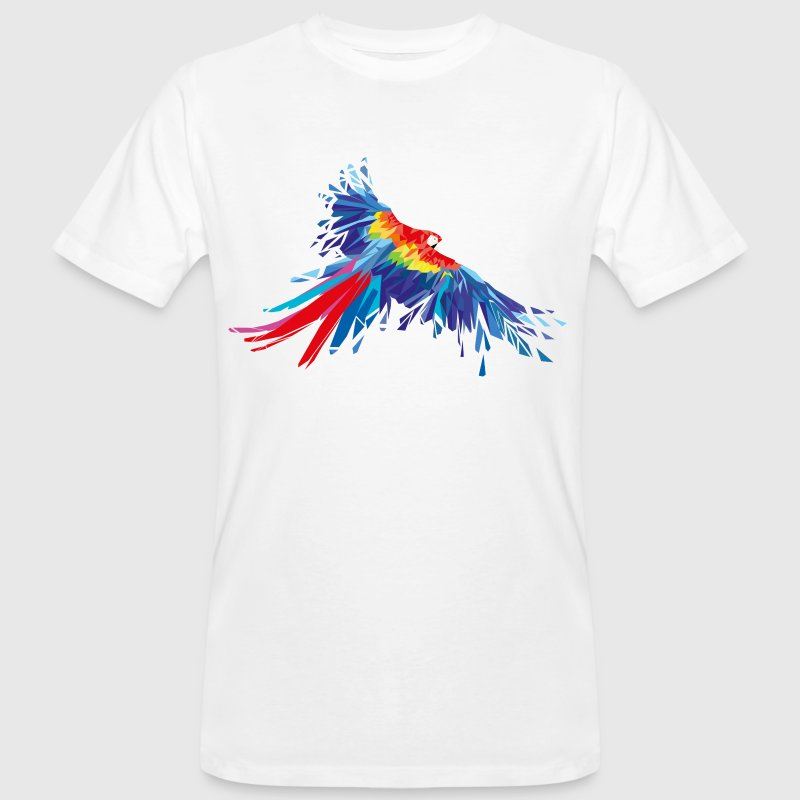 Parrot feathers Aras bird birds wing parrot bird - Men's Organic T-shirt