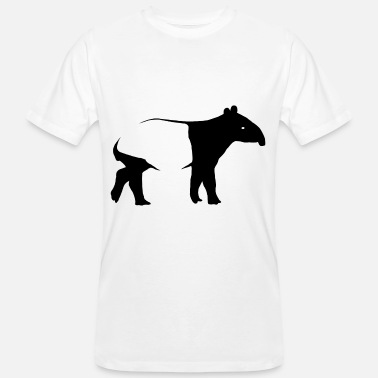 Tapir Saddle Cloth Tapir Silhoutte exotic animal gift - Men's Organic T-Shirt