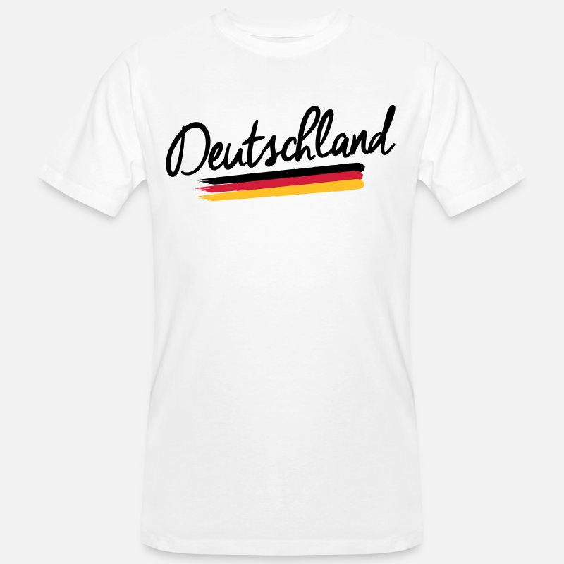 Banner T-Shirts - Germany - Germany - Federal Republic of Germany flag - Men's Organic T-Shirt white