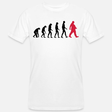 Obese Bold evolution - of whom are obese - obese - Dick funny - Men's Organic T-Shirt