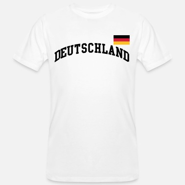 Germania Bandiera Bandiera Germania - calcio Germania Germania - T-shirt ecologica da uomo