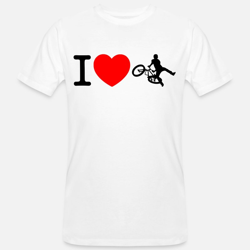 Bicycle T-Shirts - I love bmx bike - Men's Organic T-Shirt white