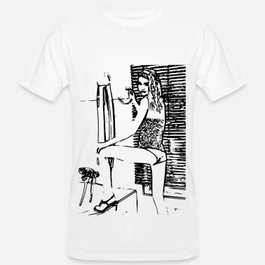 Naked Babe Sexy girl in erotic position - Men's Organic T-Shirt