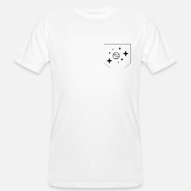 Breast Star Breast pocket star and planet gift idea - Men's Organic T-Shirt