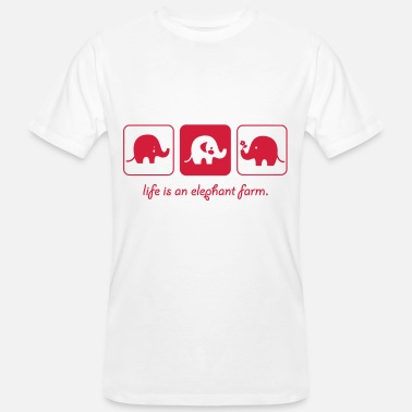 Farming LIFE IS TO ELEPHANT FARM (v) - Men's Organic T-Shirt