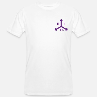 Boston Tea Party Boston Tea Party Purple Logo, idée cadeau - T-shirt bio Homme