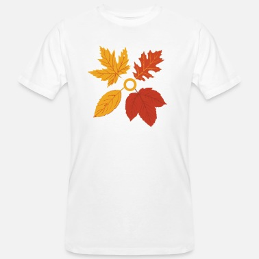 Autumn Leaves Autumn Autumn Leaves Leaves Gift - Men's Organic T-Shirt