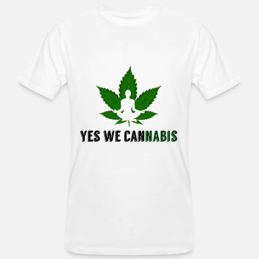 Yes We Cannabis Ja vi cannabis hampa blad - Ekologisk T-shirt herr