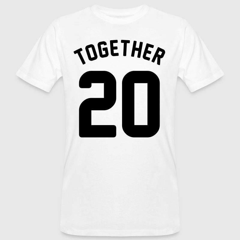 Together since - couple shirt - love - year - Men's Organic T-shirt