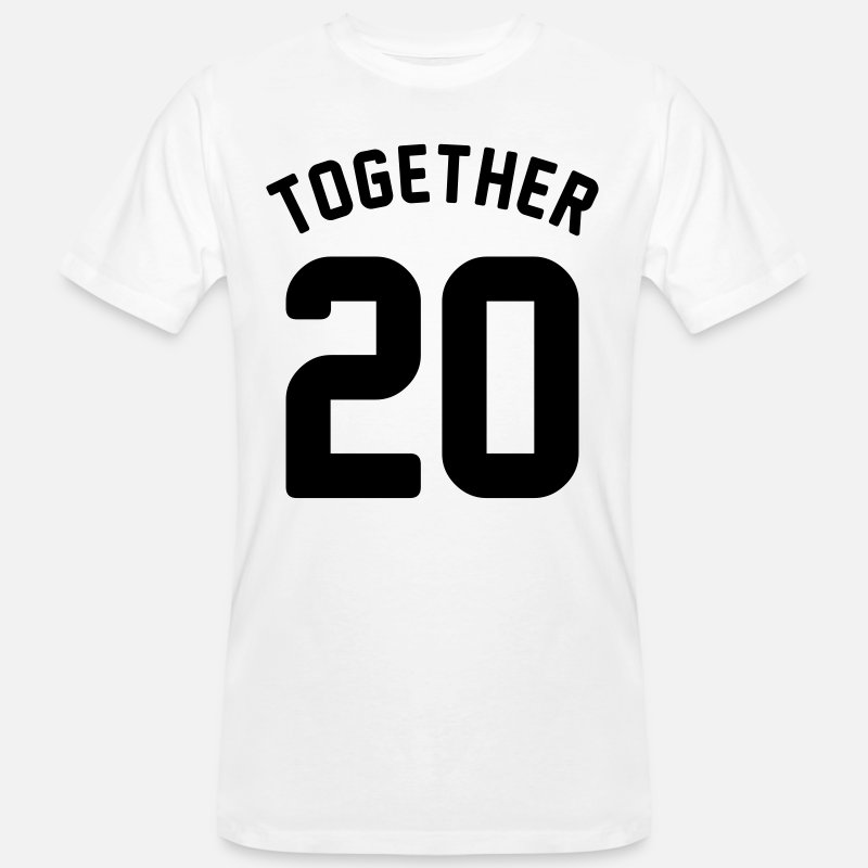 Since T-Shirts - Together since - couple shirt - love - year - Men's Organic T-Shirt white