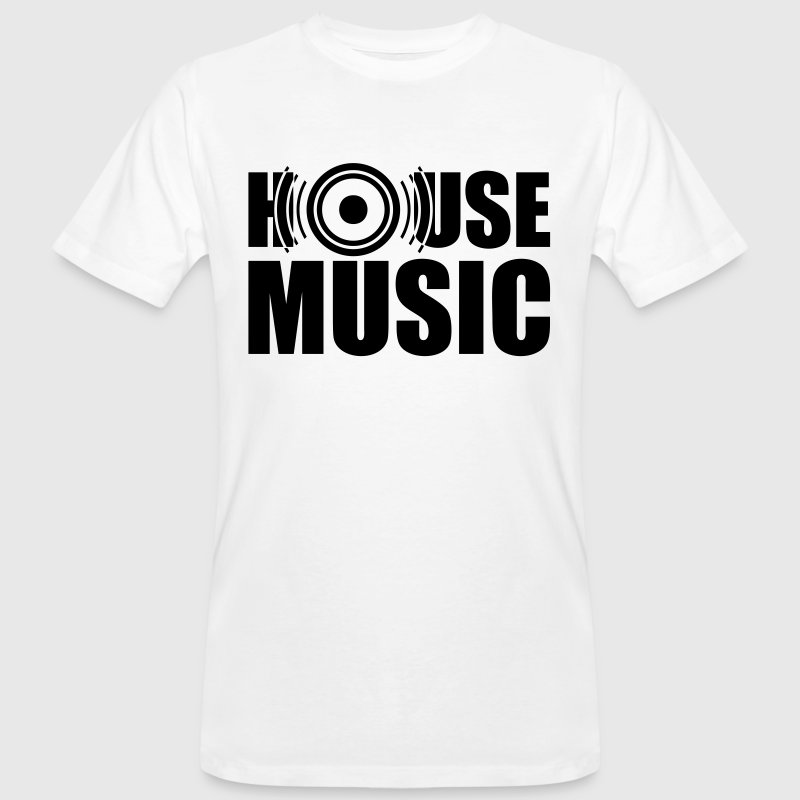 House Music techno bass   - Ekologisk T-shirt herr