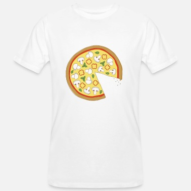 Officialbrands The Missing Pizza Mushroom - Matching Par Love - Økologisk T-skjorte for menn