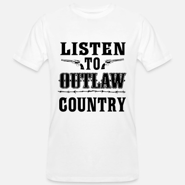 Sigla Paese Ascolta Outlaw Country - Southern Music - T-shirt ecologica da uomo