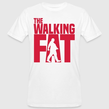 The walking Fat - Zombie - Humor - Adipositas-Fett - Männer Bio-T-Shirt
