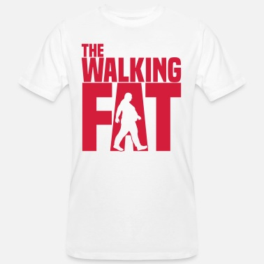Adipositas The walking Fat - Zombie - Humor - Adipositas-Fett - Mannen Bio-T-shirt