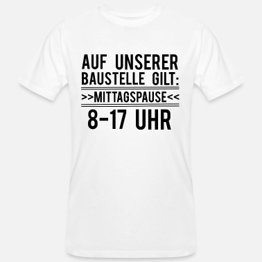 Mittagspause Lustig Mittagspause Lunch Time - Männer Bio-T-Shirt