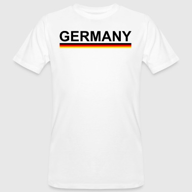 World Cup European Football Championship Germany with flag - Men's Organic T-Shirt