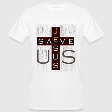 Jesus Christ cross gift - Men's Organic T-Shirt