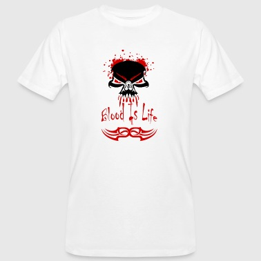 metal t shirts blood is life - T-shirt bio Homme