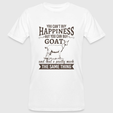 Farm Animal You can't buy happiness but you can buy goat - Men's Organic T-Shirt
