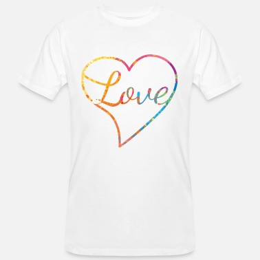Love With Heart Love with heart - Liebe - Männer Bio-T-Shirt