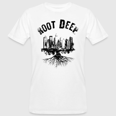 Root deep Urban schwarz - Men's Organic T-Shirt