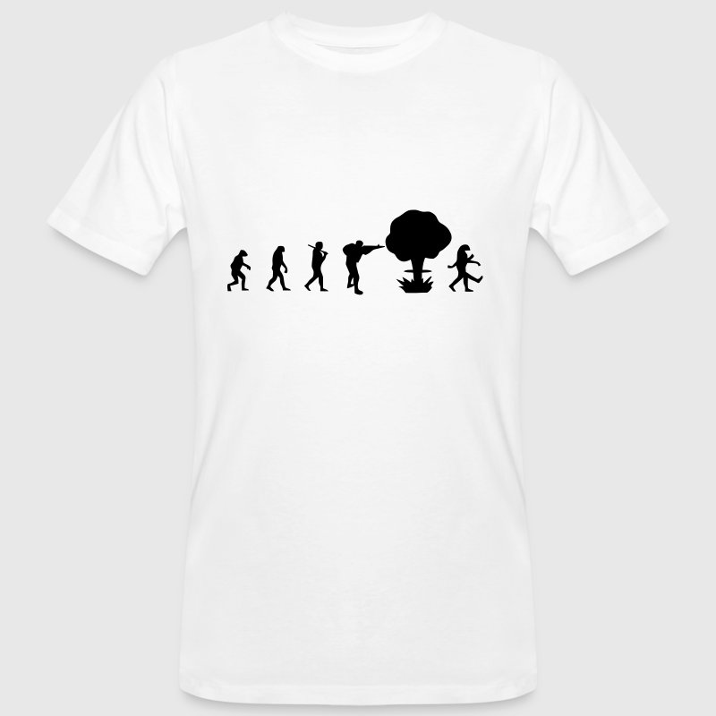 Evolution nuclear war - Men's Organic T-shirt