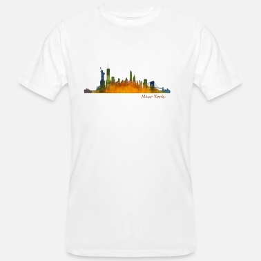 Ny NYC New York City skyline silhouette, NY - T-shirt ecologica da uomo