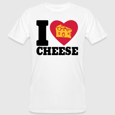 I love Cheese - Mannen Bio-T-shirt