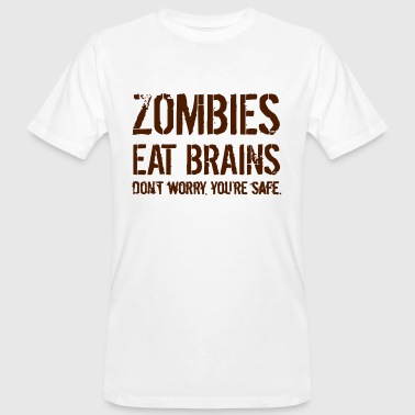 Eat Pussy ZOMBIES EAT BRAINS - Camiseta ecológica hombre