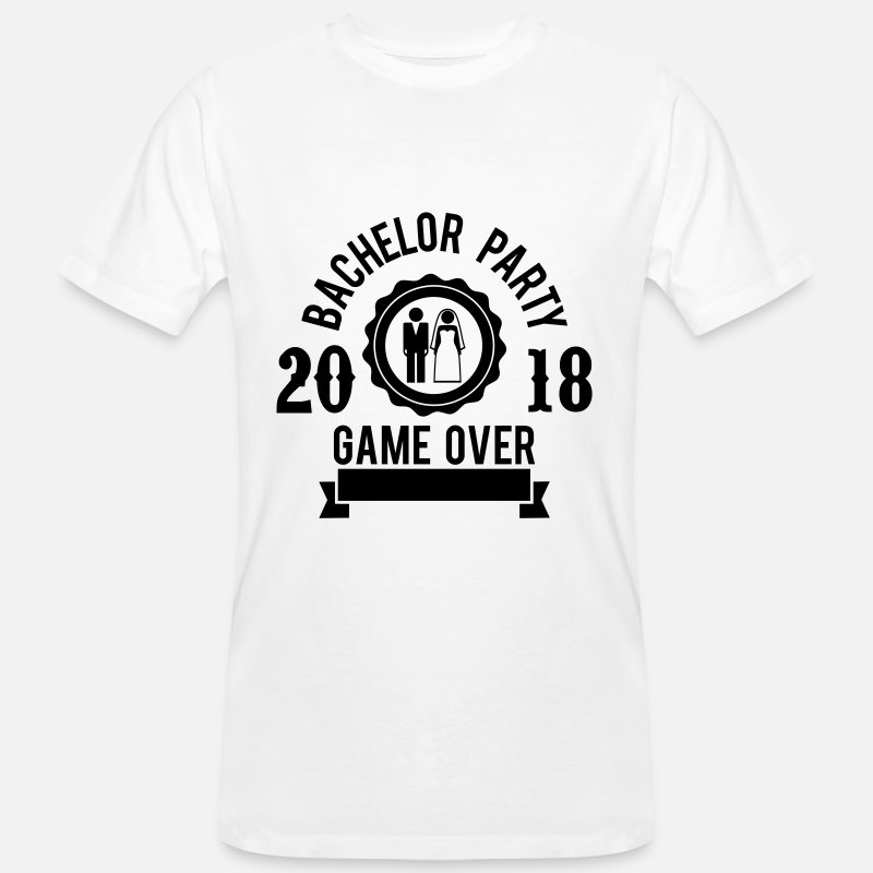 Party T-Shirts - Bachelor Party Game over 2018 - JGA-Hochzeit-Groom - Men's Organic T-Shirt white