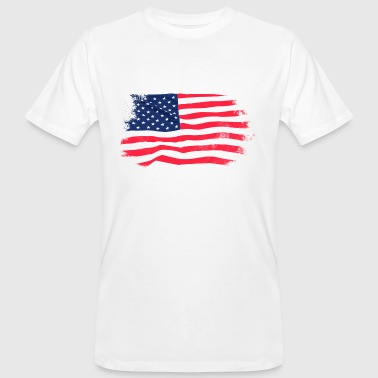 USA Flag - Vintage Look - T-shirt bio Homme