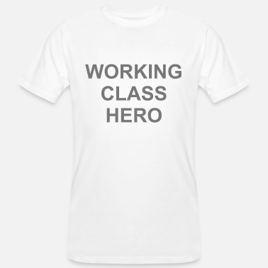 Working Class Working Class Hero - John Lennon - Økologisk T-skjorte for menn