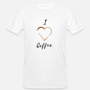 Kaffeefleck I love coffee - Männer Bio-T-Shirt