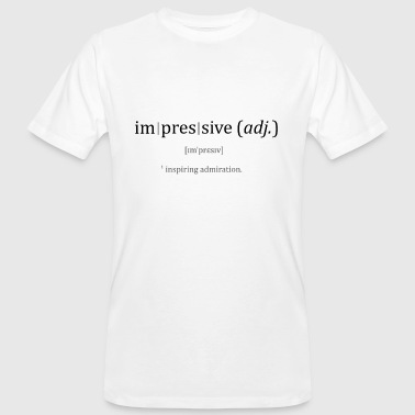 Impressive dictionary - Men's Organic T-Shirt