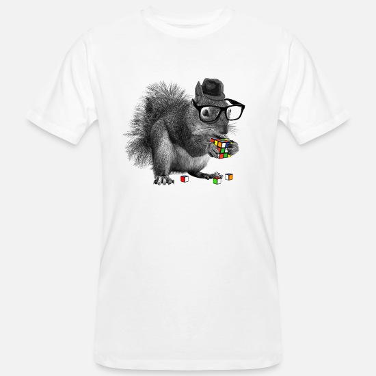 Cube T-Shirts - Rubik's Squirrel - Men's Organic T-Shirt white