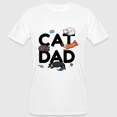 Cat Daddy Cat Dad - Cat Cat man Daddy Kitty Meow - Mannen Bio-T-shirt