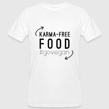 VEGAN DESIGN Karma free food #govegan - T-shirt bio Homme