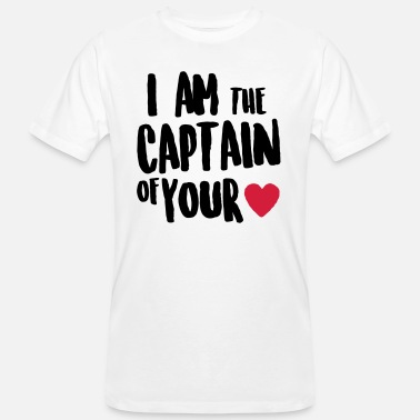 i am the captain of your heart - Miesten luomu t-paita